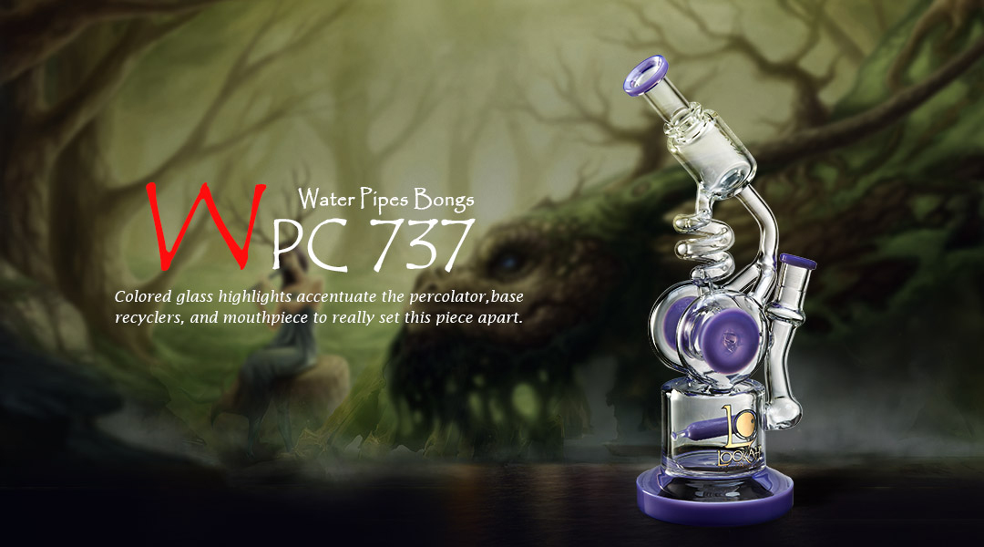 10.5 inch glass water pipe