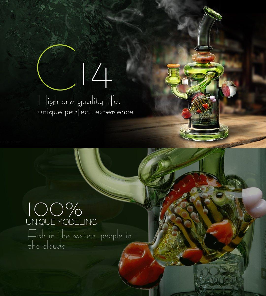 C14 Glass Bong