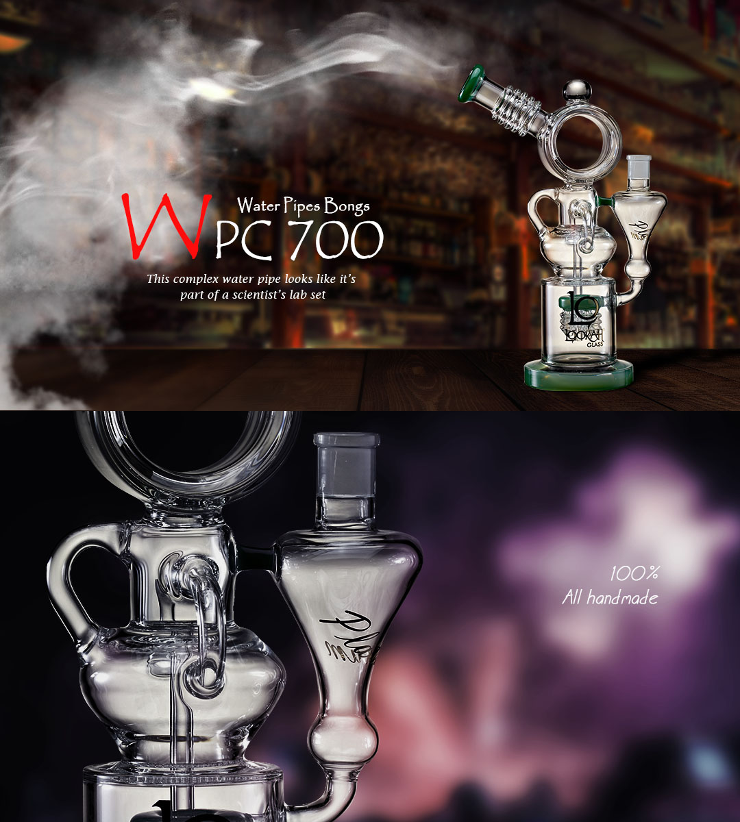 WPC700 Water Glass Bong