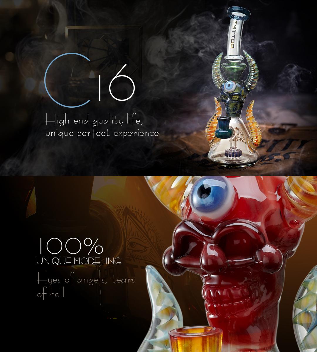 C16 Glass Bong