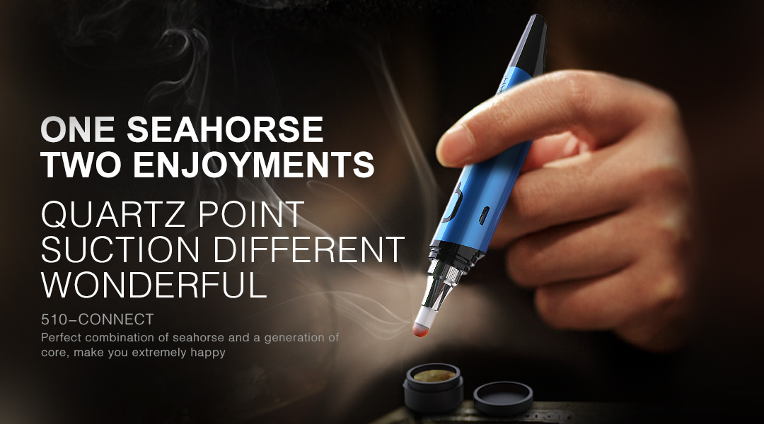 Lookah Seahorse wax pen blue